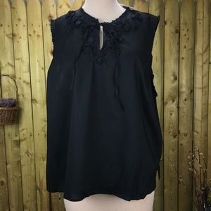 NWT Fashion Bug Ruffled Embellished Blouse 4X